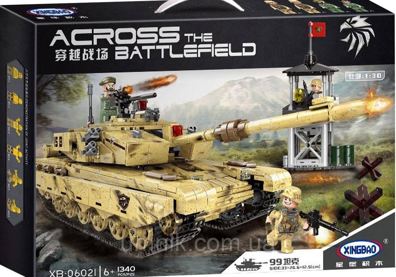 """Конструктор XINGBAO Military """"Військовий танк"""", 1340 дет., XB-06021"""