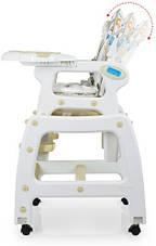 Стільчик для годування Bambi, ремені безпеки, M3233-18, бежевий, фото 3