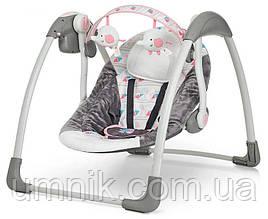 Детский шезлонг-качалка, музыкальный, дуга с подвесками, Mastela Deluxe, 79×58×58 см, 6504