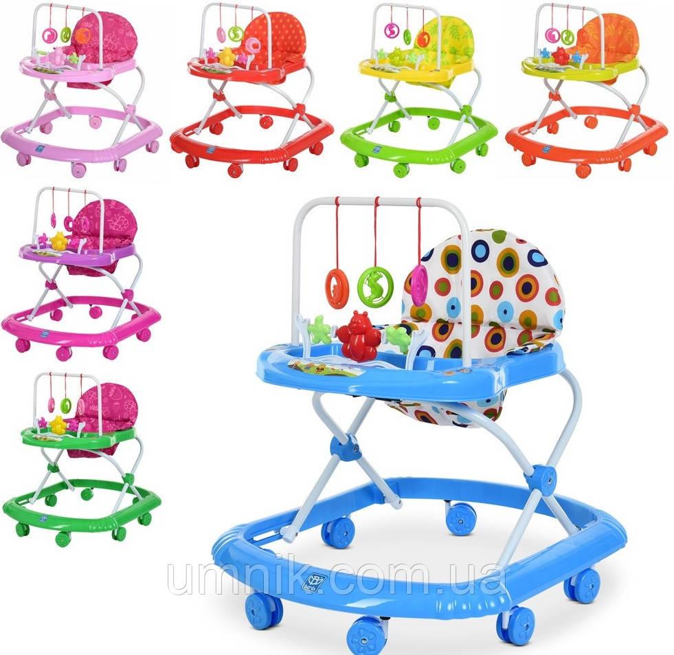 Детская каталка-ходунки, интерактивные, музыкальные, с игровой панелью, Bambi, M 0591A