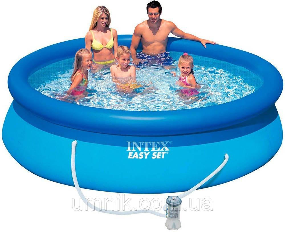 Надувной бассейн Intex 28122 (56922) Easy Set Pool, 305*76см + насос-фильтр