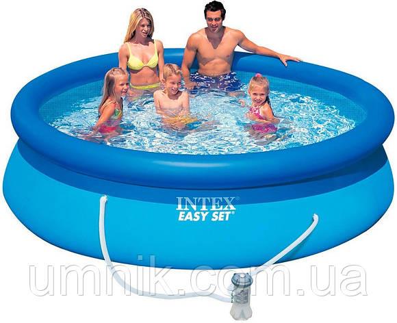 Надувной бассейн Intex 28122 (56922) Easy Set Pool, 305*76см + насос-фильтр, фото 2
