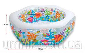 """Надувной бассейн Intex """"Океанский Риф"""" с надувным дном, 56493 NP, 191*178*61см, фото 2"""