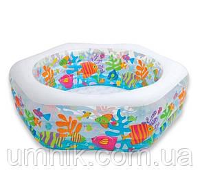 """Надувной бассейн Intex """"Океанский Риф"""" с надувным дном, 56493 NP, 191*178*61см, фото 3"""