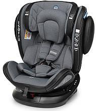 Автокресло детское EL CAMINO, Evolution 360, 0-36 кг, темно-серое, ME 1045 Royal Dark Gray