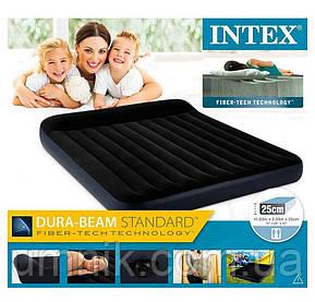 Матрас надувной Intex с подголовником, 64144, 203*182*25см, фото 2