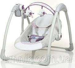 Детский шезлонг-качалка, музыкальный, дуга с подвесками, Mastela Deluxe, 79×58×58 см, 6505