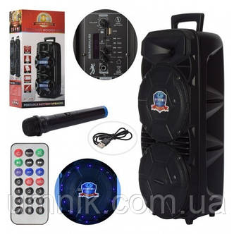 Портативна акумуляторна Bluetooth колонка з мікрофоном, 26*23*59.5 см, LT-2804, фото 2