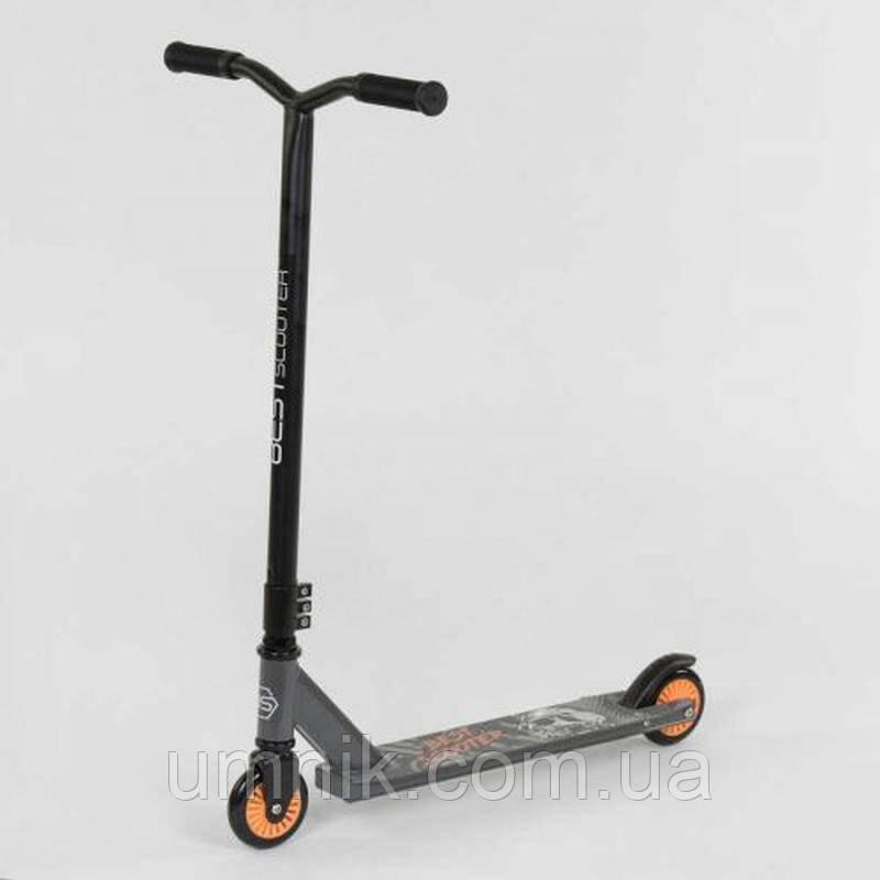 Самокат трюковый Best Scooter 49872, черно-оранжевый.