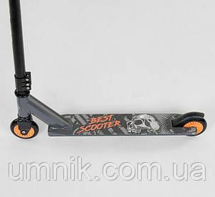 Самокат трюковый Best Scooter 49872, черно-оранжевый., фото 2