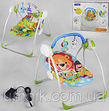 Детский шезлонг-качалка, музыкальный, дуга с подвесками, Fitch Baby, 73×53×65 см, 88915/88917