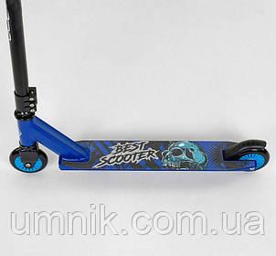 Самокат трюковий Best Scooter 93031, синій., фото 2