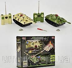 Танковый бой на радиоуправлении, световые, звуковые эффекты, аккумулятор, 9672