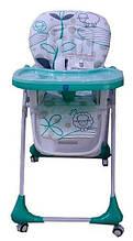 Стульчик для кормления Bambi, ремни безопасности, M3233, мятный