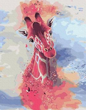 Картины по номерам 40х50 см Brushme Жираф акварелью (GX 32050)