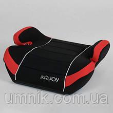 Бустер детский JOY, 15-36 кг, черно-красный, 43769