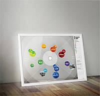 "Интерактивний постер ""Карта желаний Dream&Do"" (тубус)"