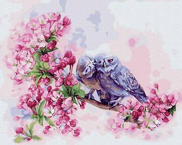 Картины по номерам 40х50 см Brushme Влюбленные совушки (GX 33240)