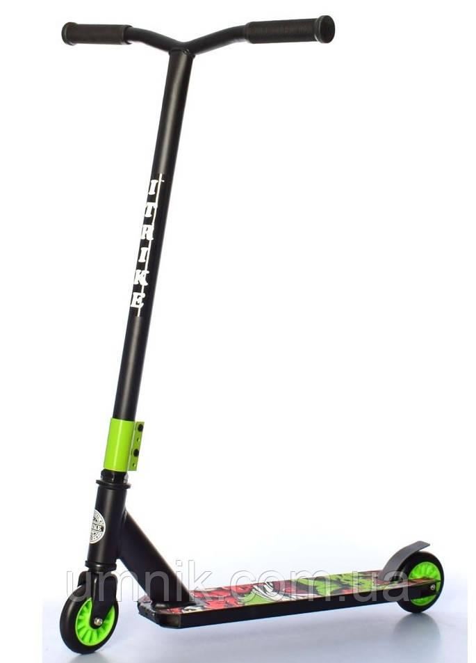 Самокат трюковий iTrike SR 2-067-1-BGR, чорно-зелений