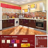 Кухня угловая HIGH GLOSS 3,6х2,4 м
