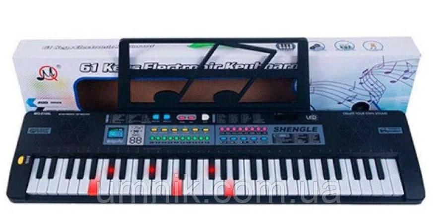 Детский игровой синтезатор, микрофон, запись, 61 клавиша, MQ6109L, фото 2