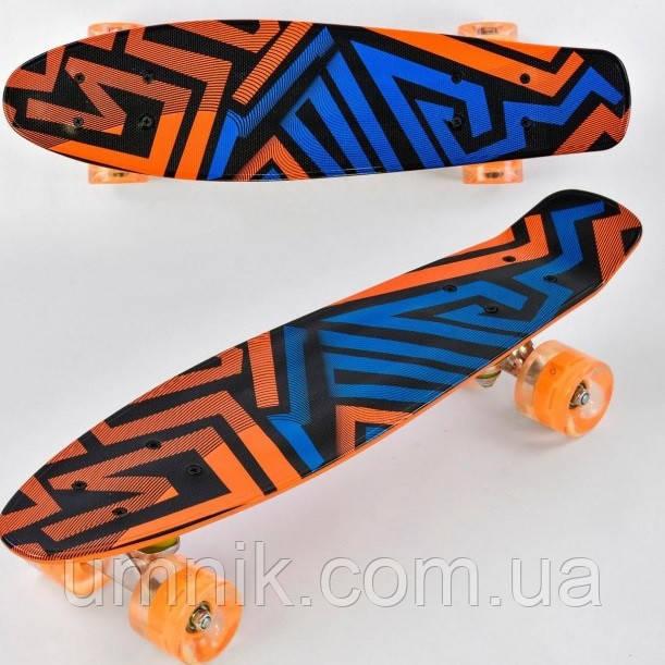 Пенни борд Best Board, светящиеся колеса, F7620
