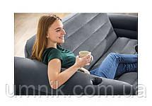 Надувной диван - трансформер Intex, 66552, 203*224*66см, серый., фото 2