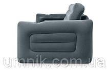 Надувной диван - трансформер Intex, 66552, 203*224*66см, серый., фото 3