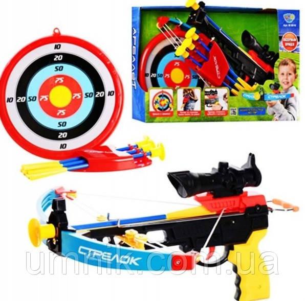 Арбалет дитячий, стріли на присосках, мішень, приціл, M0488