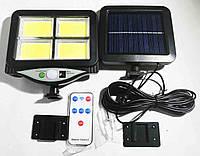 Уличный фонарь на солнечной батарее BK128-4 COB  с пультом ДУ