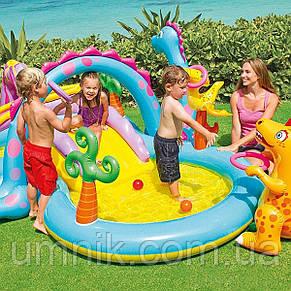 """Детский надувной игровой центр """"Планета динозавров"""" Intex 57135, 333*229*112см, фото 2"""
