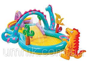 """Детский надувной игровой центр """"Планета динозавров"""" Intex 57135, 333*229*112см, фото 3"""