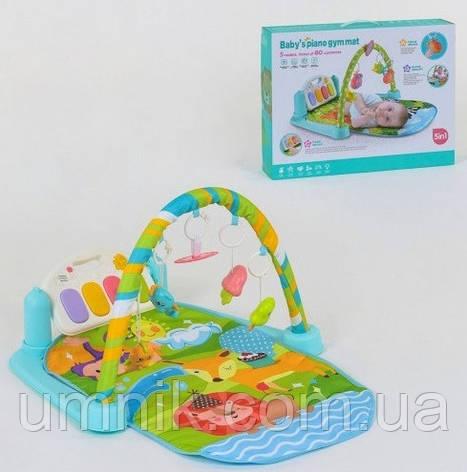Детский развивающий игровой коврик, музыкальный, 70*46 см, 9921, фото 2