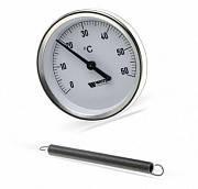 Термометр 63 0-120 С биметаллический Watts накладной на трубы