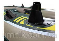 """Надувная четырехместная лодка Intex """"Seahawk"""", 68351, с насосом и вёслами, 351х145х48см, фото 2"""