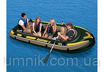 """Надувная четырехместная лодка Intex """"Seahawk"""", 68351, с насосом и вёслами, 351х145х48см, фото 3"""