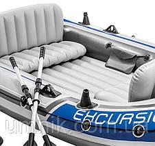 """Надувная четырехместная лодка Intex """"Excursion 4 Set"""", 68324, с насосом и вёслами, 315х165х43см, фото 2"""