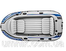 """Надувная четырехместная лодка Intex """"Excursion 4 Set"""", 68324, с насосом и вёслами, 315х165х43см, фото 3"""