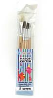Набор художественных кисточек для рисования, 5 штук, RA-7699, для детей от 3 лет