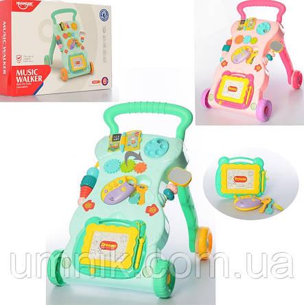 Дитяча каталка-ходунки, інтерактивні, музичні, з ігровою панеллю, Huange, 40×34×40 см, HE0801, фото 2