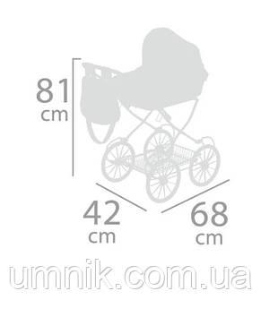 Коляска для кукол с сумкой и зонтиком  DeCuevas, 81*68*42 см, 81033, фото 3