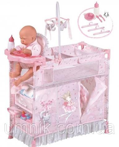 Кровать-манеж для кукол, DECUEVAS, 70х32х60 см, 53034, фото 2