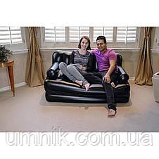 Надувне крісло - трансформер Intex, 66551, 117*224*66см, чорне., фото 3
