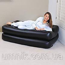 Надувне крісло - трансформер Intex, 66551, 117*224*66см, чорне., фото 2