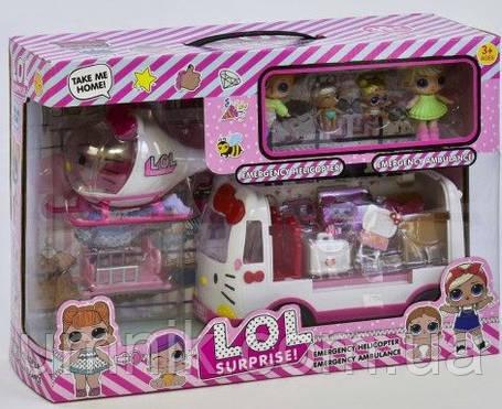 Ігровий набір з лялькою LOL і автобусом, K5621, фото 2