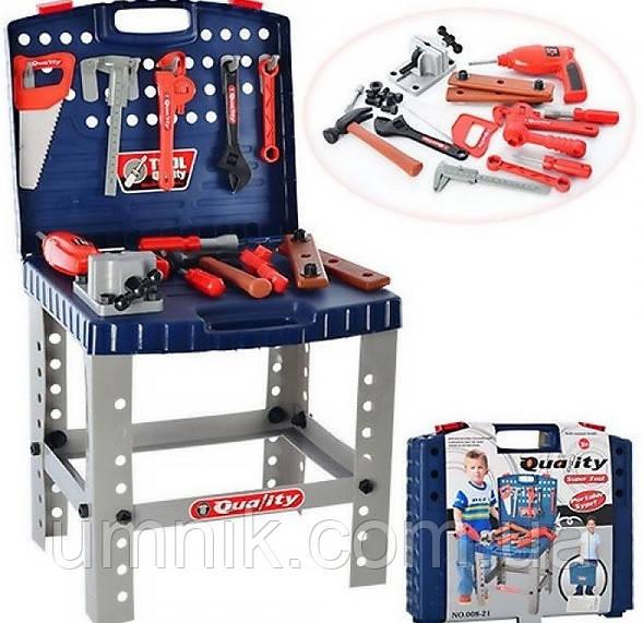 Ігровий набір інструментів зі столиком - у валізі, майстерня, 40*34*73 см, 008-21