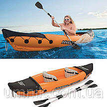 "Надувная двухместная байдарка ""Hydro - Force Raft Set"" с веслами, Bestway 65077, 321х88см, до 160кг, фото 3"