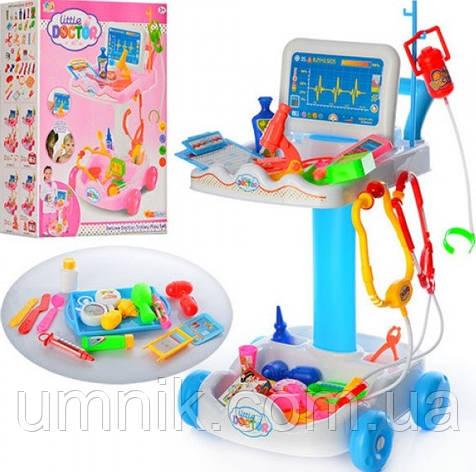 Детский игровой набор доктора  с тележкой, медицинские инструменты, 30,5х30х51 см,606-1-5, фото 2