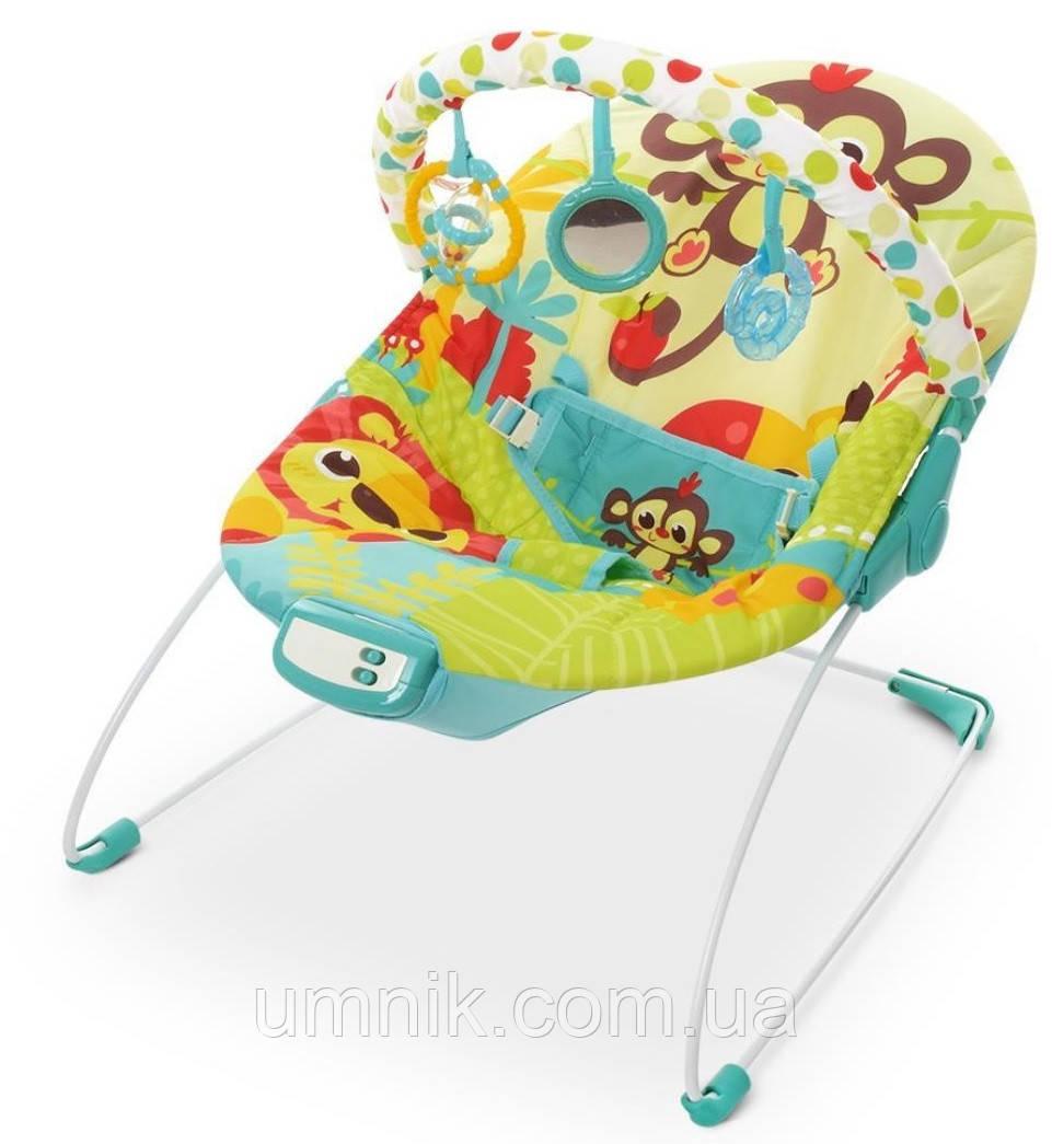Детский шезлонг-качалка, музыкальная, с подвесками, Mastela, 61х57х47 см, 6876