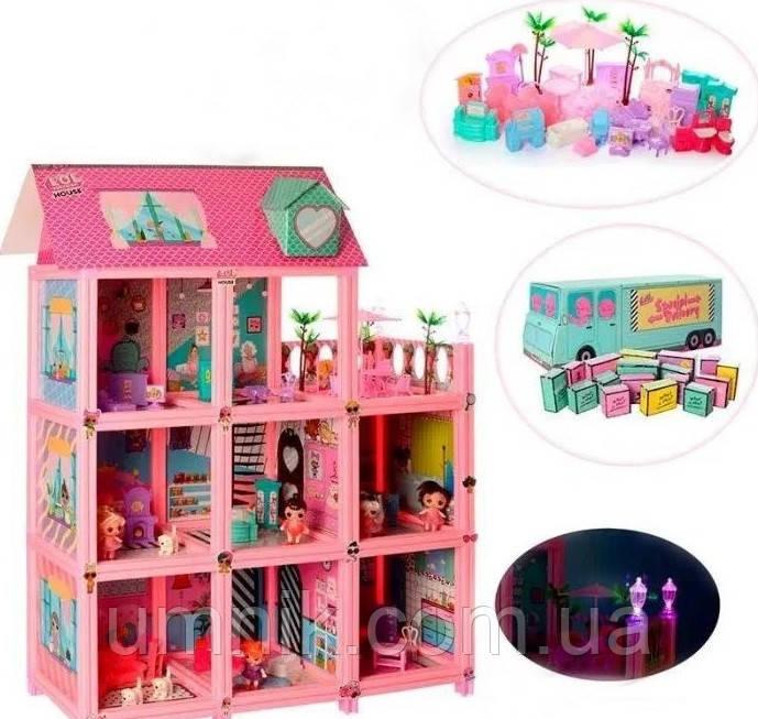 """Ляльковий будиночок """"ЛОЛ Великий Замок"""", набір з капсулами, ляльками, 60*50 см, k5627"""